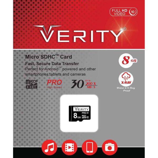 کارت حافظه Micro SDHC وریتی USH-I U1 ظرفیت 8 گیگابایت