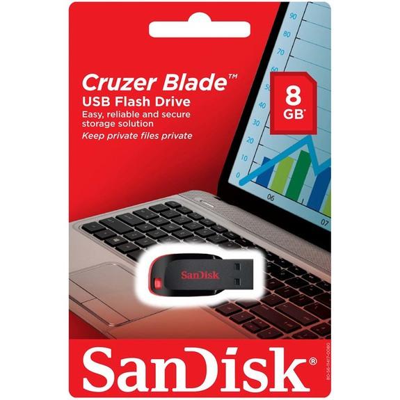 فلش مموری سن دیسک Cruzer Blade ظرفیت 8 گیگابایت