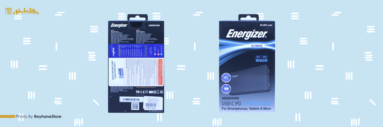 شارژر همراه انرجایزر UE20044PQ ظرفیت 20000 میلی آمپر