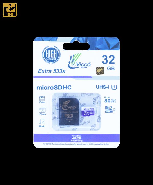کارت حافظه microSDHC ویکو ظرفیت 32 گیگابایت سرعت 80MB/s